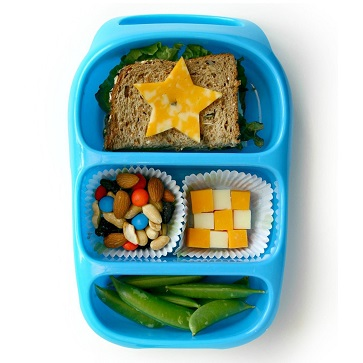 Lunchbox met verschillende vakjes