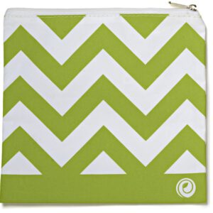 Lunchskins Green Chevron Medium Zipper