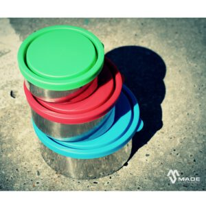 Made Sustained round lunchbox set of 3