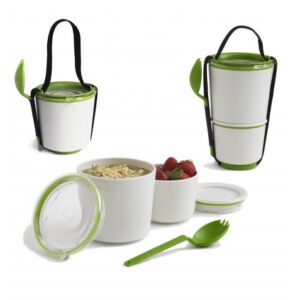 Black & Blum lunch pot white and lime
