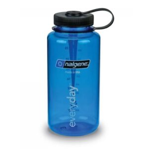Nalgene bottle Wide Mouth 1l Blue with Black cap