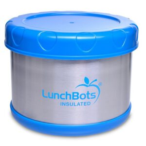 lunchbots royal blue thermos