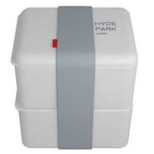 Omami lunchbox grijs dubbel 2 keer 500ml